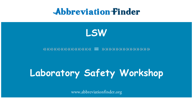 LSW: Laboratory Safety Workshop
