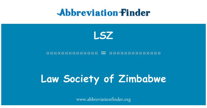 LSZ: Law Society of Zimbabwe