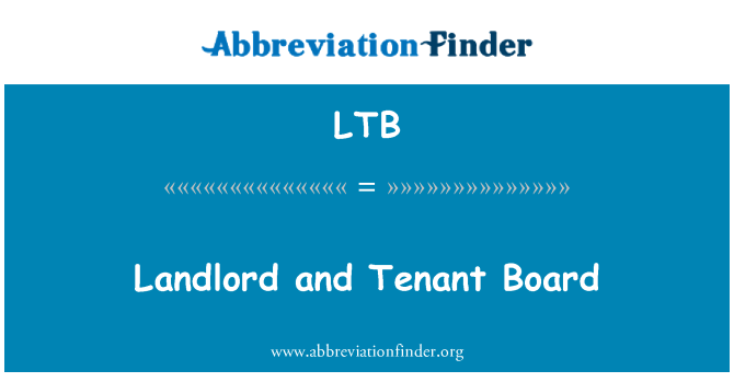 LTB: Landlord and Tenant Board