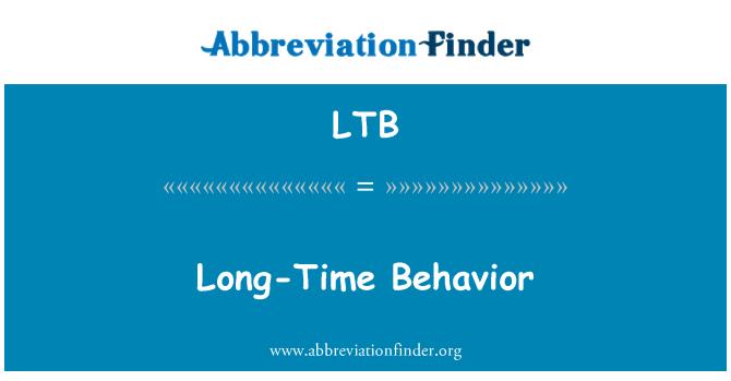 LTB: Long-Time Behavior