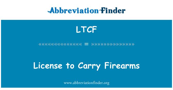 LTCF: Ateşli silah taşıma ruhsatı