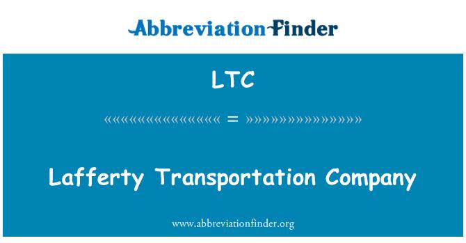 LTC: Lafferty Transportation Company