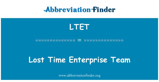 LTET: Kaotatud aja ettevõtte meeskond