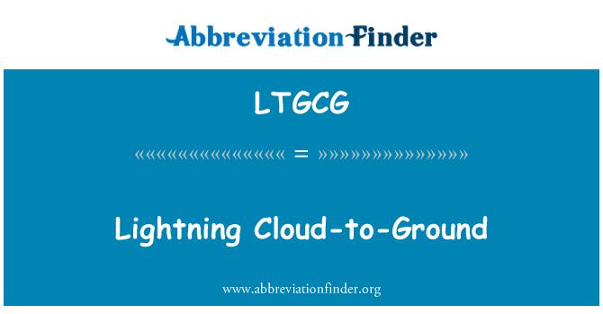 LTGCG: Relámpago de nube a tierra