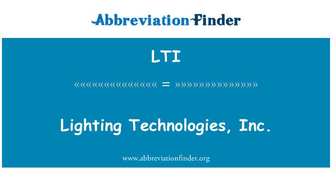 LTI: Lighting Technologies, Inc.