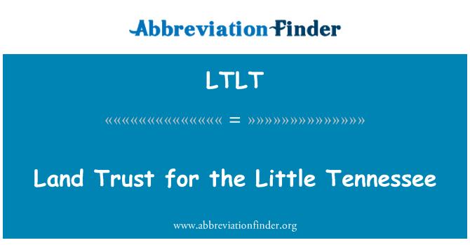 LTLT: زمین پر اعتماد کم ٹینیسی کے لئے