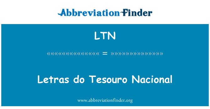 LTN: Letras do Tesouro Nacional
