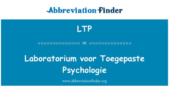 LTP: Laboratorium voor Toegepaste Psychologie