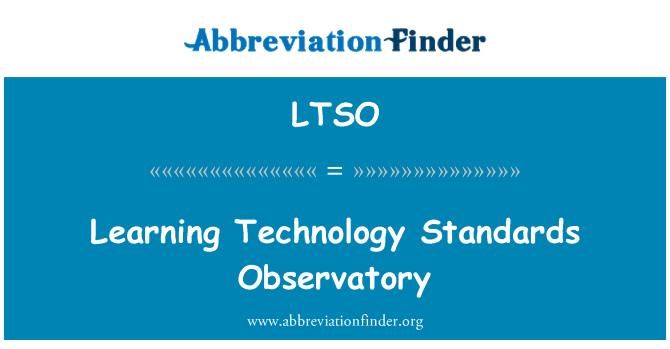 LTSO: Learning Technology Standards Observatory