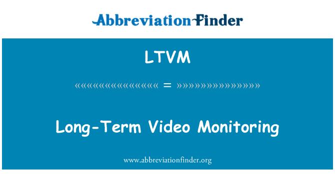 LTVM: Long-Term Video Monitoring