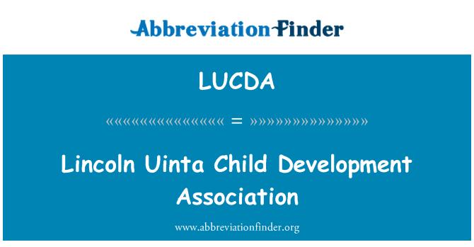 LUCDA: Lincoln Uinta Child Development Association