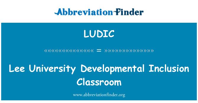LUDIC: Lee University Developmental Inclusion Classroom