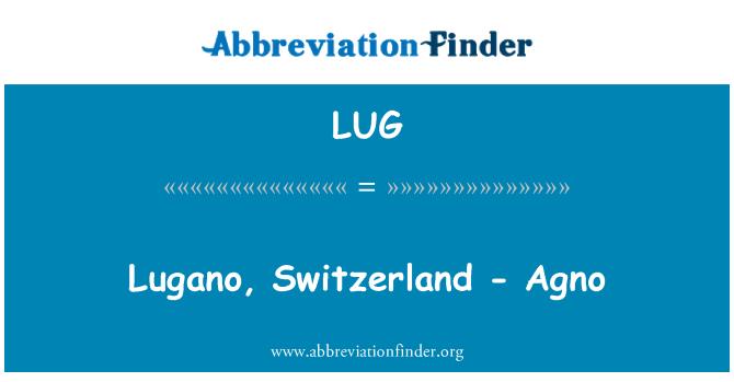 LUG: Lugano, Switzerland - Agno