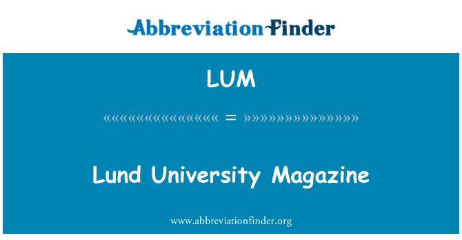 LUM: Lund University Magazine