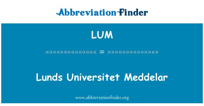 LUM: Lunds Universitet Meddelar