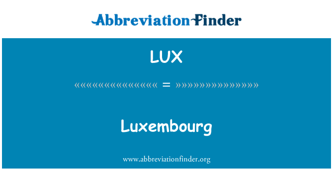 LUX: Luxembourg