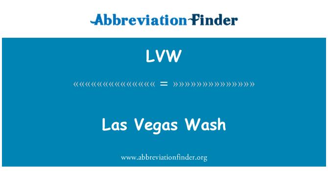 LVW: Las Vegas Wash