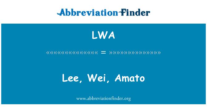 LWA: Lee, Wei, Amato