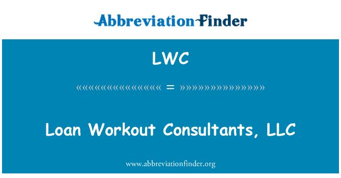 LWC: Loan Workout Consultants, LLC
