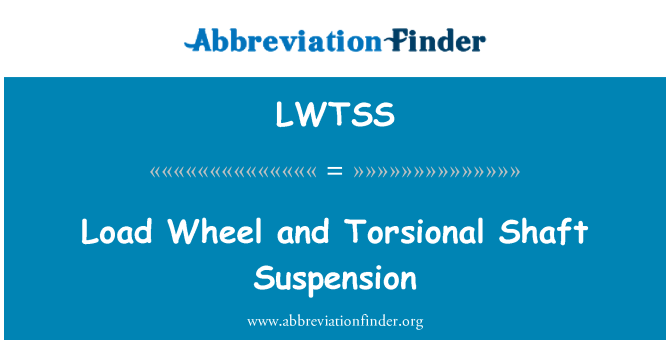 LWTSS: Load Wheel and Torsional Shaft Suspension