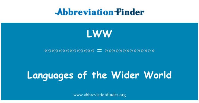 LWW: Idiomas del mundo más amplio