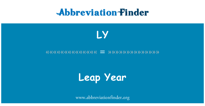 LY: Leap Year