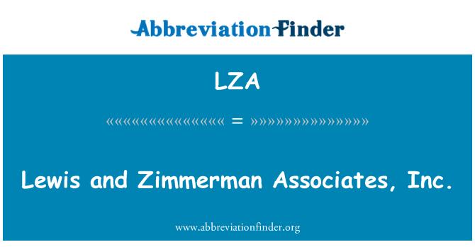 LZA: Lewis and Zimmerman Associates, Inc.