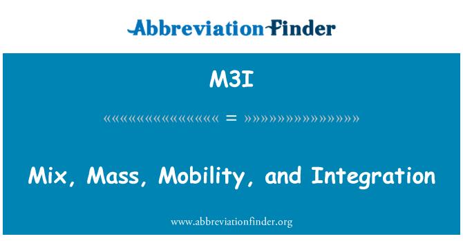 M3I: 混合,质量、 灵活性和集成