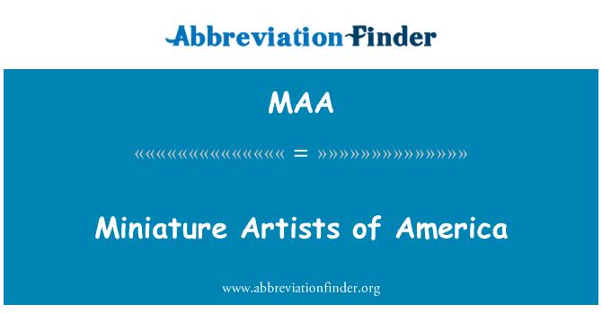 MAA: Miniature Artists of America
