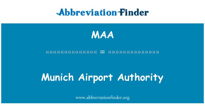 MAA: Munich Airport Authority