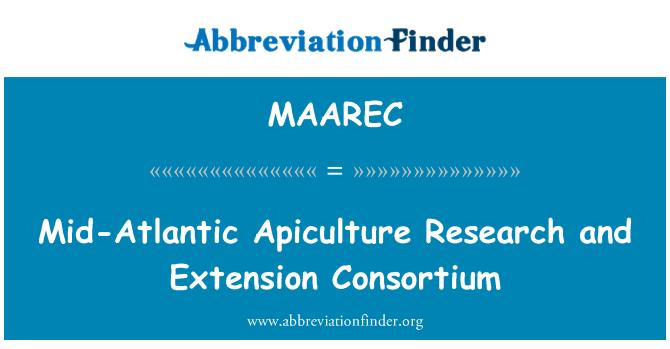 MAAREC: Mid-Atlantic Apiculture Research and Extension Consortium