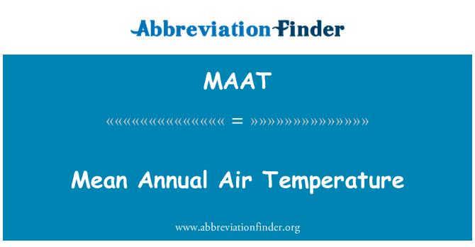 MAAT: Temperatura media anual aire