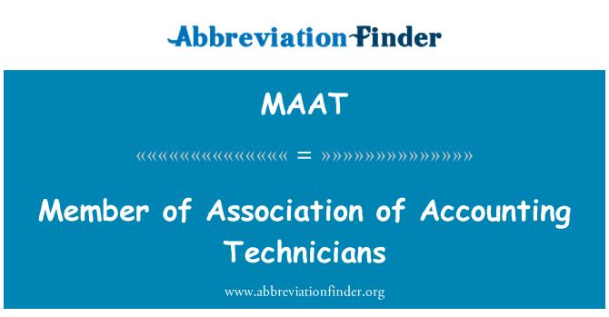 MAAT: Miembro de la Asociación de técnicos de contabilidad