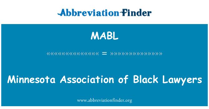 MABL: Siyah avukat Minnesota Derneği