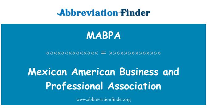 MABPA: 墨西哥美国商业和专业协会