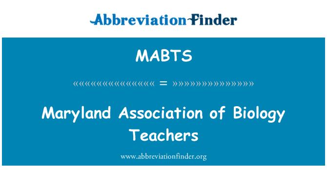 MABTS: Biyoloji öğretmenleri Maryland Derneği