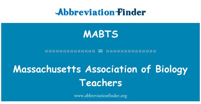 MABTS: Biyoloji Öğretmenleri Derneği Massachusetts