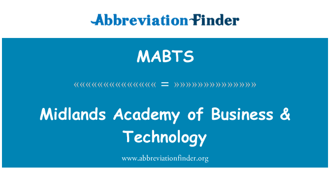 MABTS: Midlands Academy of Business & tehnoloogia