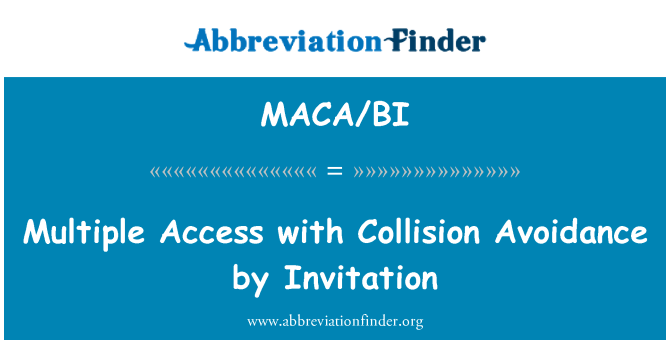 MACA/BI: Multiple Access with Collision Avoidance by Invitation