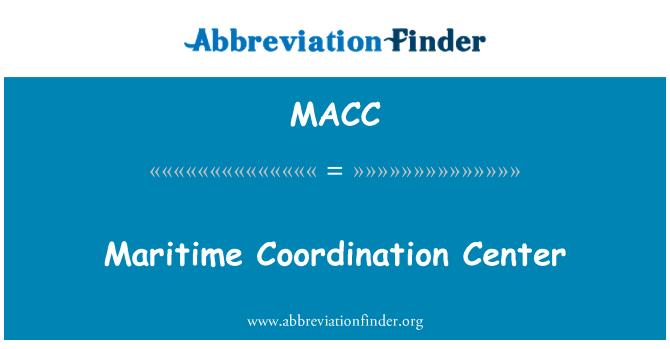 MACC: Deniz Koordinasyon Merkezi