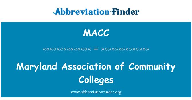 MACC: Maryland halk eğitim merkezleri Derneği