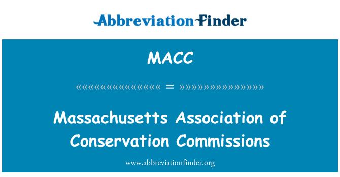 MACC: Korunma komisyon Massachusetts Derneği