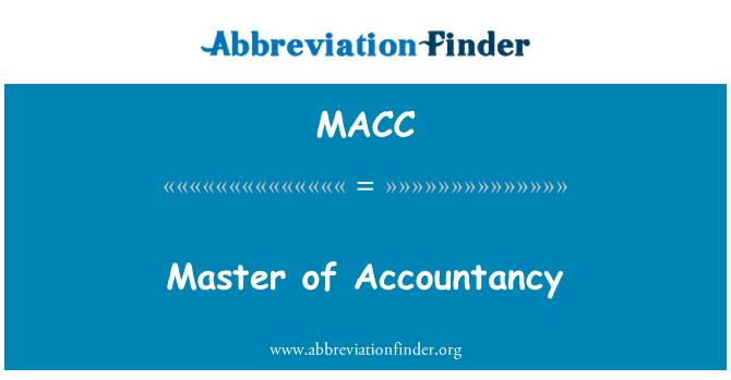 MACC: Muhasebe ustası
