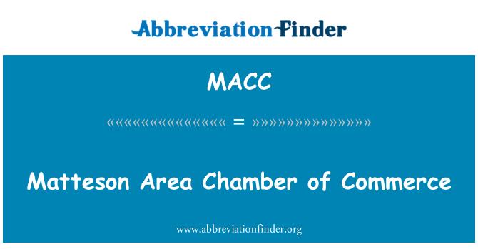 MACC: Matteson alan ticaret