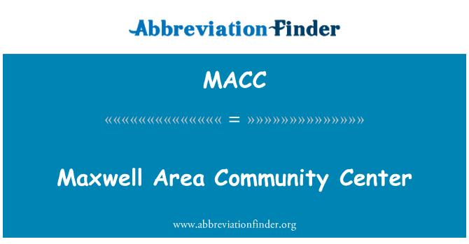 MACC: Maxwell alan Toplum Merkezi