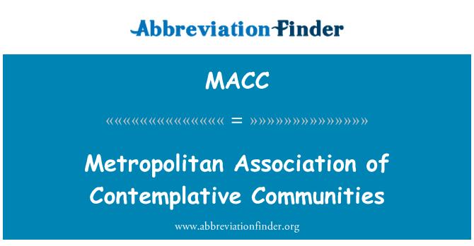 MACC: Dalgın toplulukların Metropolitan Birliği