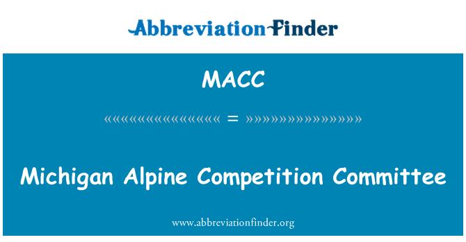 MACC: Michigan Alp yarışma Komitesi