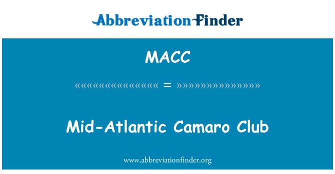 MACC: Orta Atlantik Camaro Club