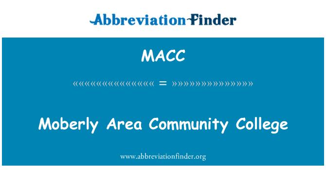 MACC: Moberly Area Community College