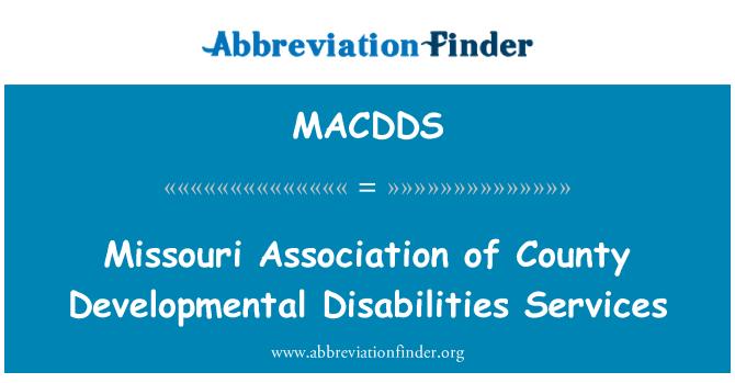 MACDDS: 密苏里州县发育性残疾人服务协会